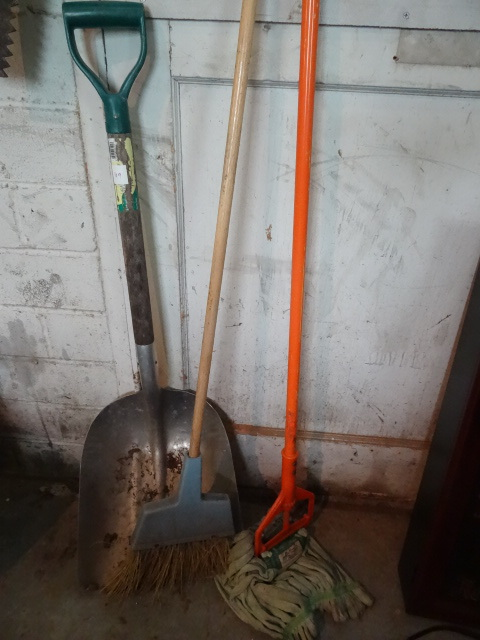 Mop Broom And Aluminum Scoop K Amp C Auctions Norwood 11