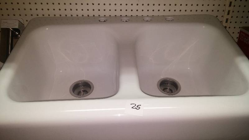 This White Farmhouse Apron Front Double Bowl Sink From Lyons Industries  Will Become The Lustrous Focal Point Youu0027ve Always ...