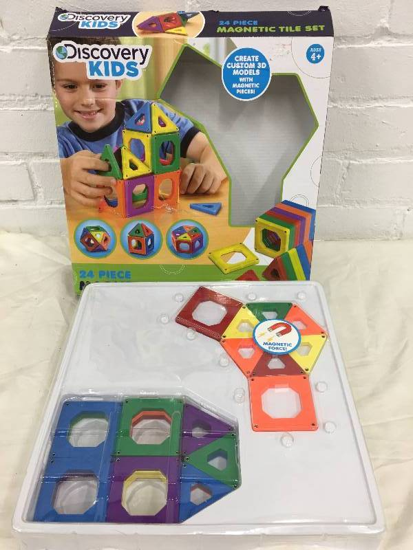 Discovery kids 24 pc tile set august auction 2 store for Discovery 24 shop