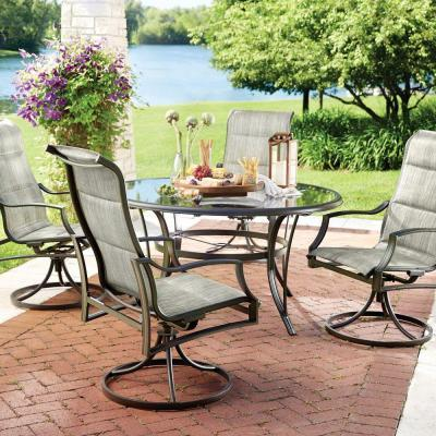 Hampton Bay Statesville 5 Piece Padded Sling Patio Dining