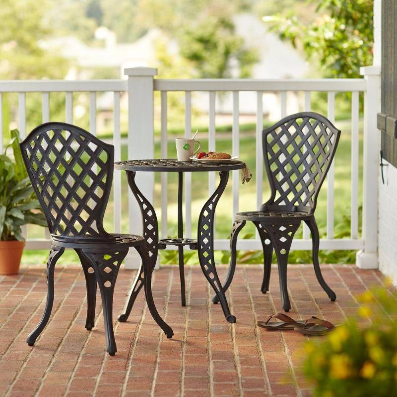 Hampton bay dining furniture legacy 3 piece patio bistro for Best deals on patio sets