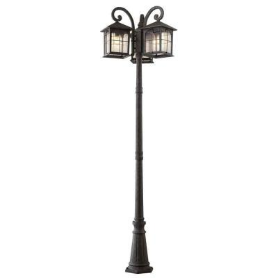 Home Decorators Collection Brimfield 3 Head Aged Iron Outdoor Post Light Model Hb7019a 292 New