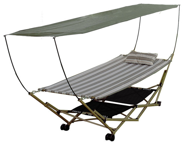mac sports portable hammock with canopy steel frame collapses for transport weather resistant 600 denier polyester fabric removable canopy carry bag     le sportsman  134 in loretto minnesota by loretto equipment  rh   globalauctionguide
