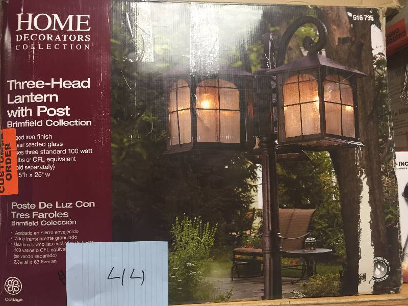 Home Decorators Three Head Lantern With Post Brimfield Collection New Kx Real Deals Friday