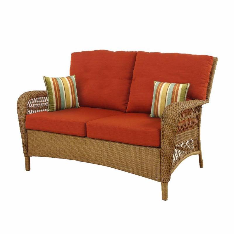 Martha Stewart Living Chairs Charlottetown Natural All Weather Wicker Patio Love New Kx Real