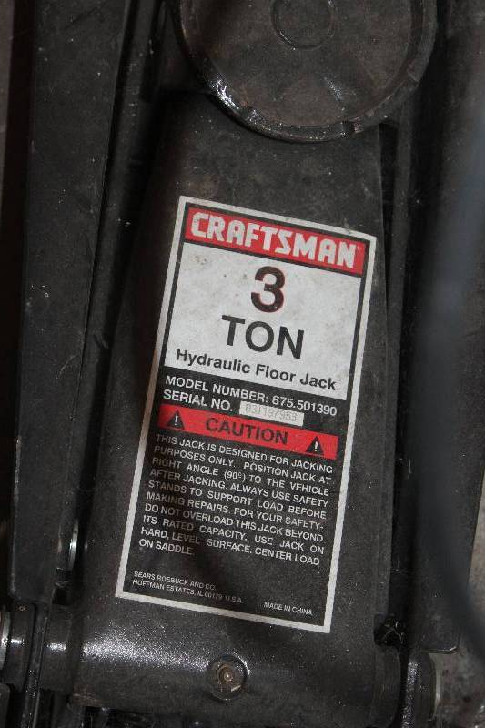 Craftsman 3 Ton Hydraulic Floor Jack New Hope Auto Parts