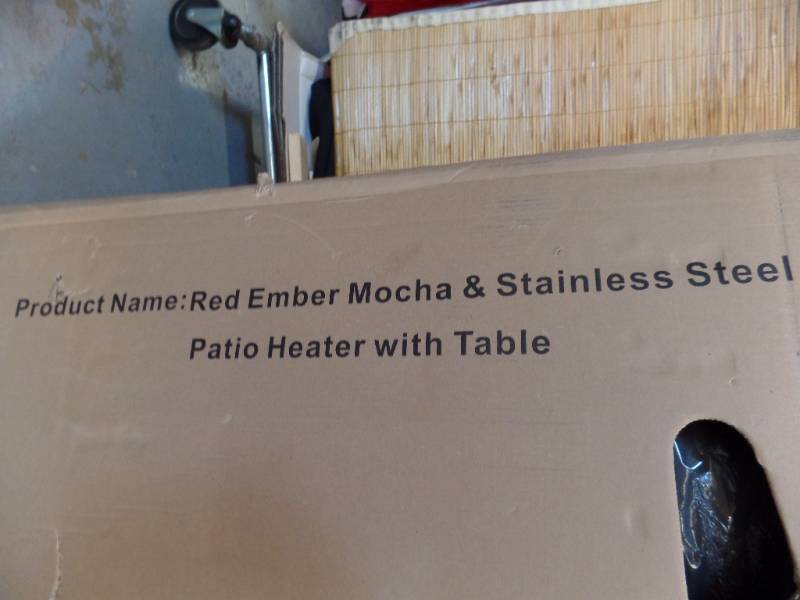 Patio Heater With Table Abi 324 Restaurant And More K Bid