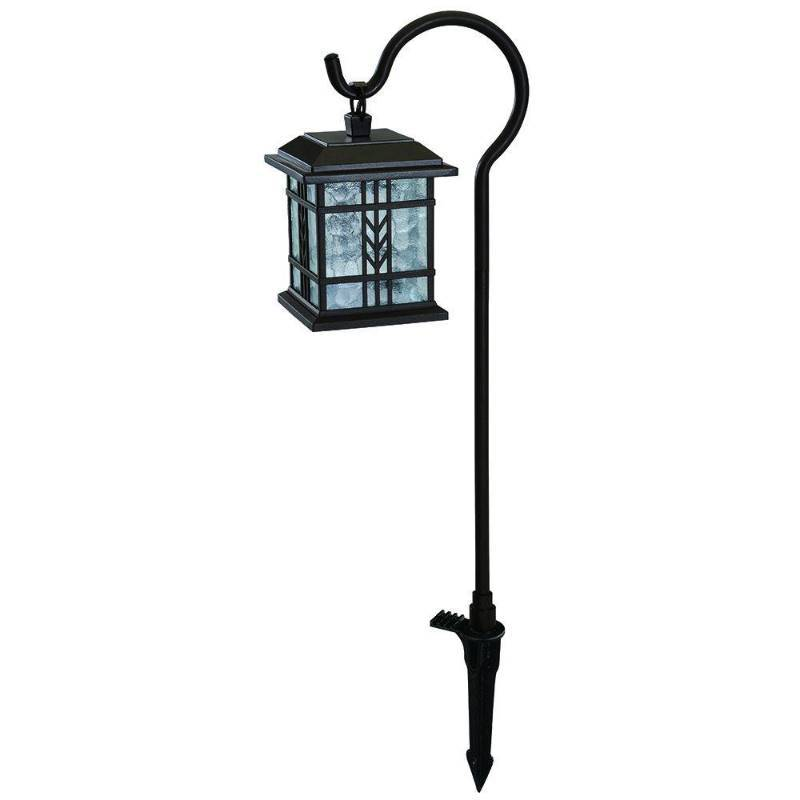 Hampton Bay Low-Voltage LED Bronze Mission Outdoor Shepherd Hook Path Light New : KX Real Deals ...