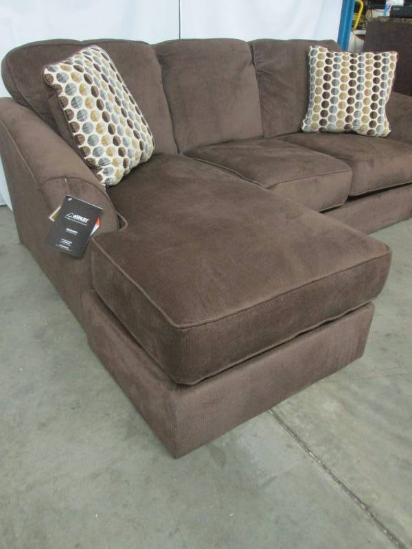 Ashley sofa with chaise brown september high end for Ashley brown sofa chaise
