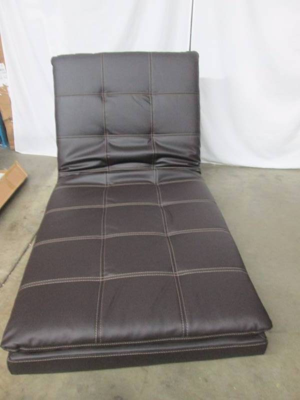 Serta valencia click clack bonded leather chaise for Bonded leather chaise