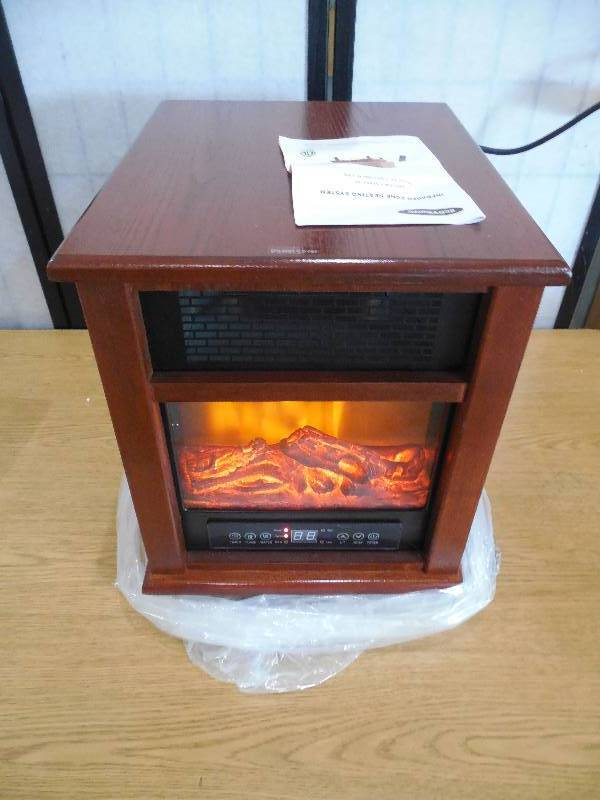 Economy 7 Heaters >> 1500-Watt 4-Elment Infrared Electric Portable Heater with Remote Control and Fireplace And ...