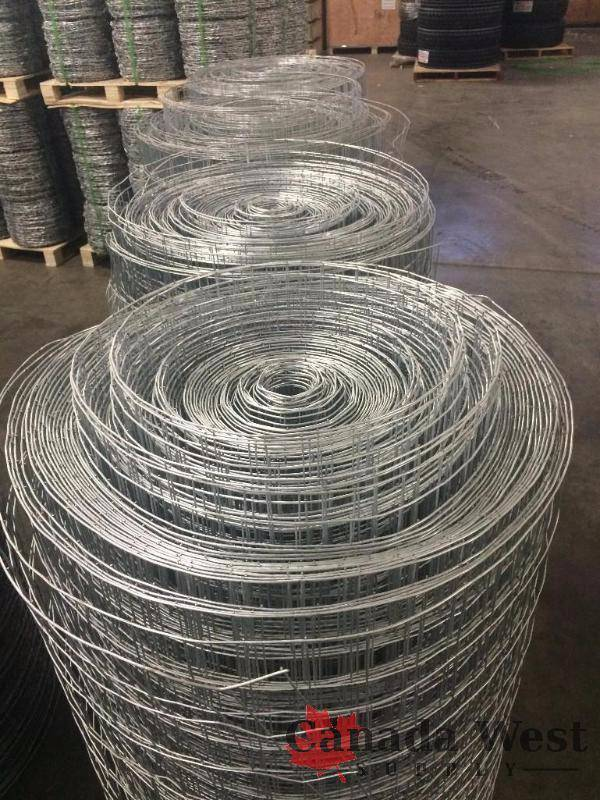 Unused 4 Rolls Of 330 Ft Welded Wire Fence New Fabric