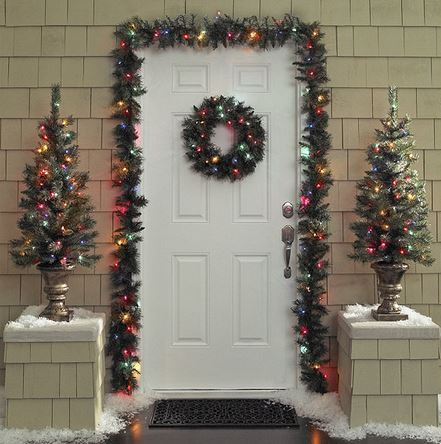 Alcove holiday door decor kit multicolored lights half a home 133 christmas 001 k bid Home decorations light kit