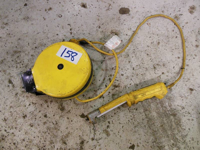 One week auction with no reserves automotive transmission shop 35 ft voltec retractable cord reel with fluorescent work light publicscrutiny Images