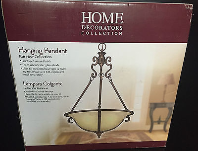 Home Decorators Collection Fairview 3 Light Heritage Bronze Bowl Pendant 517 769 Open Box Never