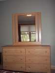 Lang 6 Drawer dresser with Mirror 57 x 16 x 32