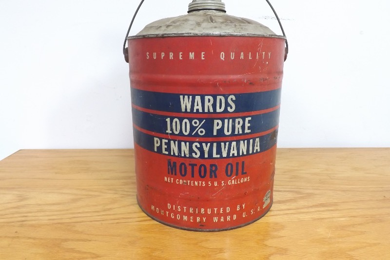 Vintage Wards 5 Gallon Motor Oil Can Ec 178 Estate