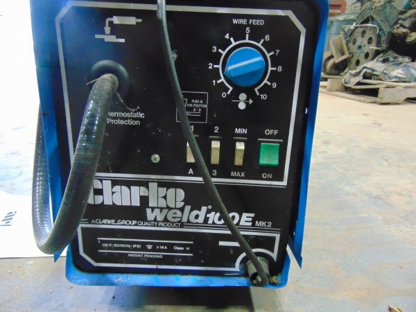 Cold Spring Mn >> Clarke Weld 100E mk2 Wire Feed Welder with Extra Tank ...
