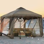 Two-Tone Gazebo with Screen open bo...