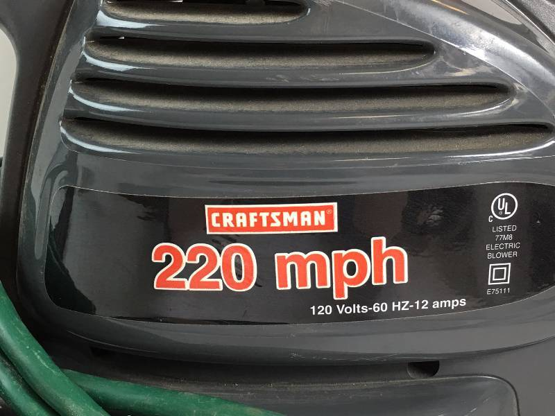 Craftsman 220 Mph Leaf Blower Corded Electric