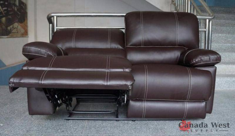 Brand New 3 Pcs Top Grain Leather Furniture Set Yr2128