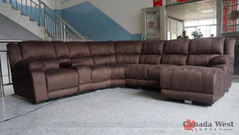 New Large Brown Power Recliner Sectional Couch Set