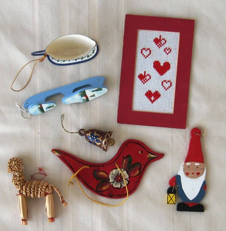 Traditional Scandinavian Christmas Ornaments Decor