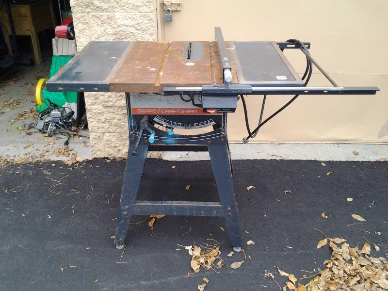 Sears craftsman 12 inch table saw on stand bikes sports for 12 inch table saw