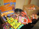 Huge value lot, box FILLED with all new Halloween items!