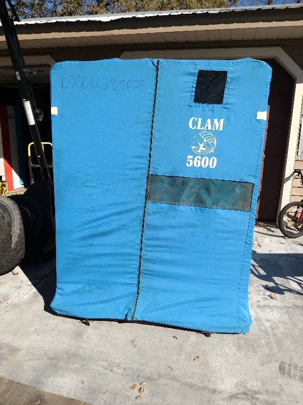Clam 5600 fish house fish houses fishing heaters for Clam fish houses