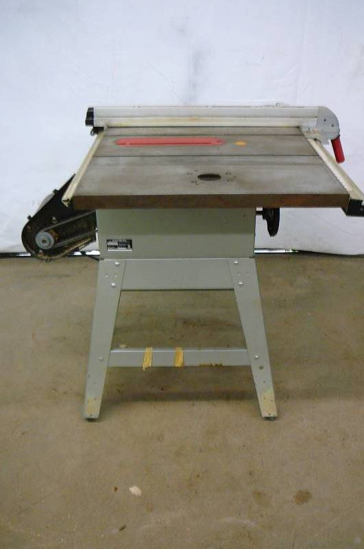 Belt Driven Table Saw Consignment Sale 430 K Bid