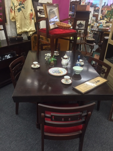 Thomasville Asian Style Art Deco Dining Room Table