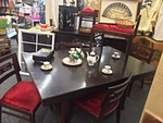 THOMASVILLE, Asian Style, Art Deco,  Dining Room Table, Buffet and 5 Chairs.