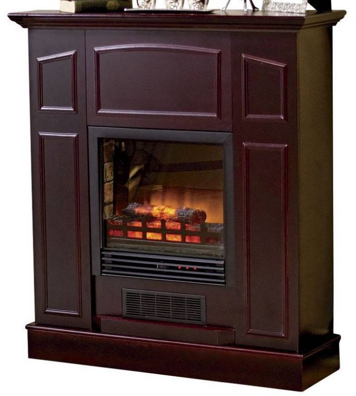 Alcove Franklin Electric Fireplace Heater With Mantel