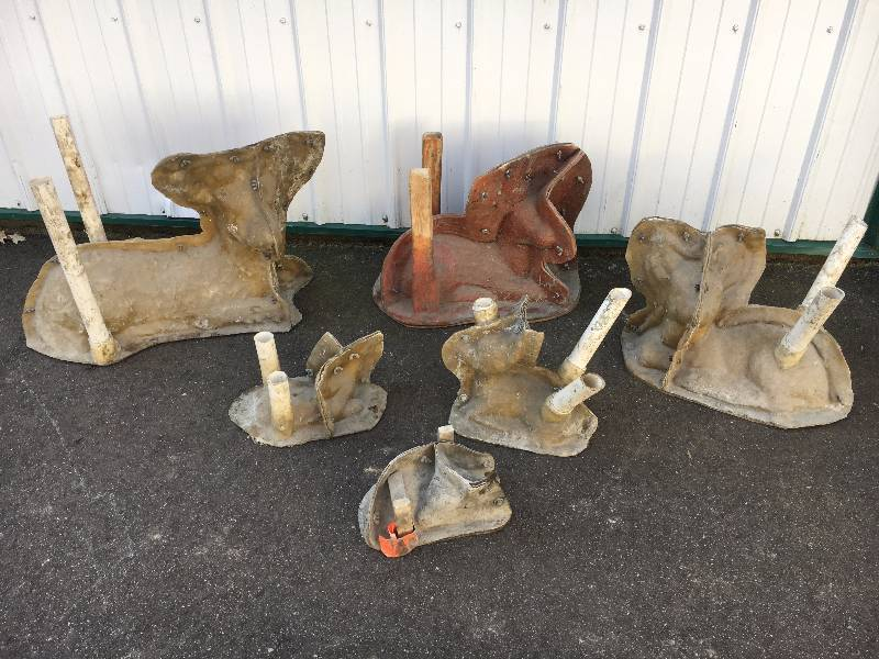 Six Deer Lying Down Concrete Molds (3-Medium 3-Small