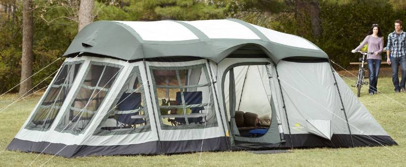 Outdoor Spirit 20u0027 x 12u0027 14-Person 2-Room Cabin Dome Tent | Half a Home 139 - A Good Mix Auction | K-BID & Outdoor Spirit 20u0027 x 12u0027 14-Person 2-Room Cabin Dome Tent | Half a ...