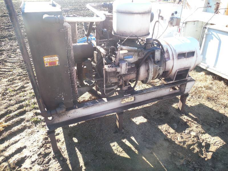 Ingersoll Rand Air Compressor With Electric Drive Motor