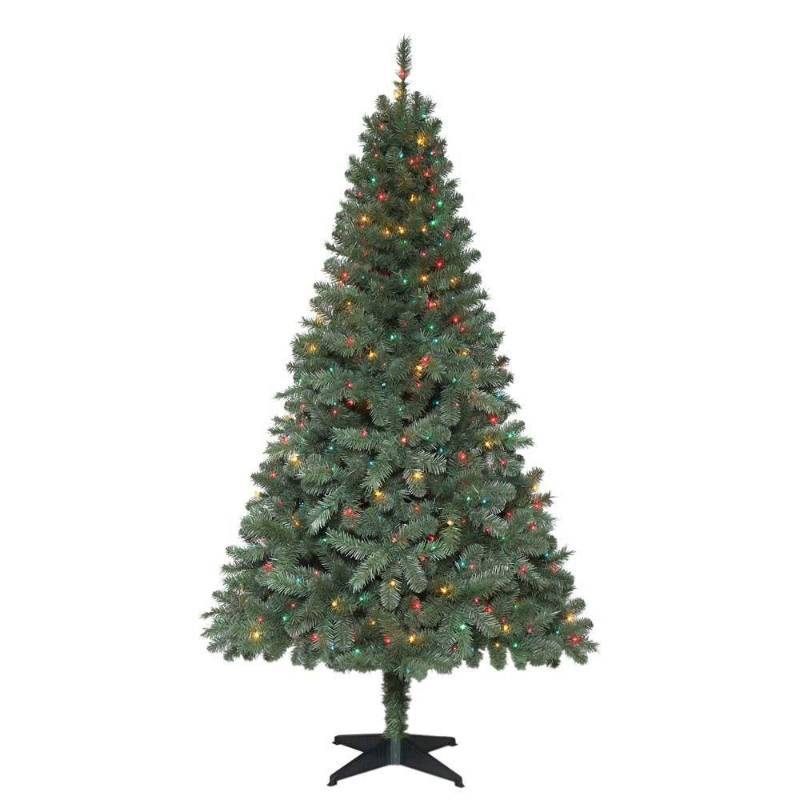 6 5 ft verde spruce artificial christmas tree with 400 for Artificial christmas decoration tree