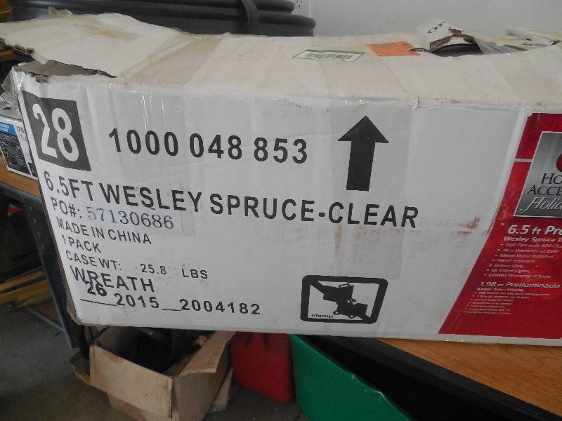 6 5 Ft Wesley Spruce Artificial Christmas Tree With 400