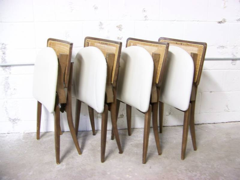 Vintage Stakmore Folding Table And 4 Chair Set Game Card