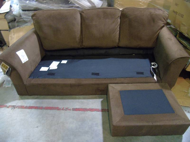 Ashley sofa with chaise brown half a home 140 for Ashley brown sofa chaise