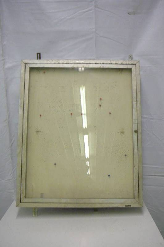 Indoor enclosed cork board w alum frame door 36 x 30 for 100 doors 2 door 36