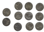 Complete Set of Silver War Nickels - 11 Coins - 1942 to 1945