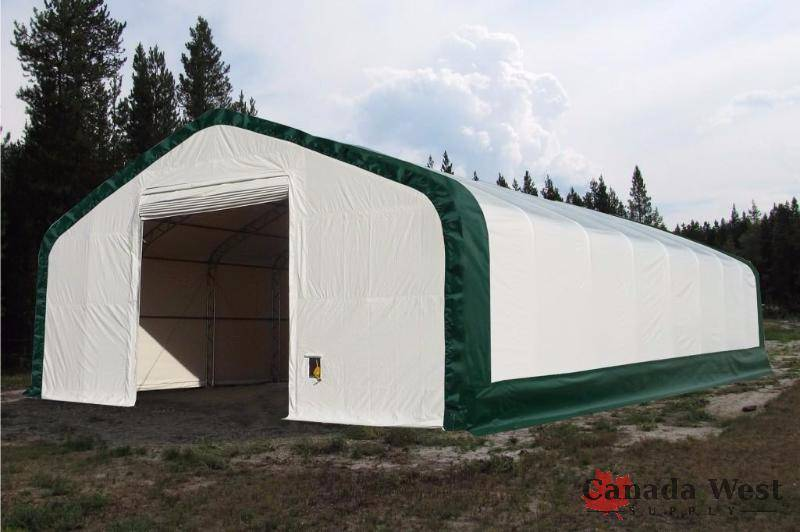 NEW DOUBLE TRUSS STEEL FRAME 40X80X21 FT WHITE STORAGE BUILDING ...