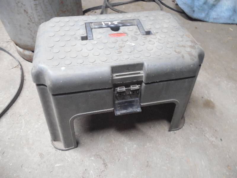 Rubbermaid Step Stool With Tools Blaine Estate Auction