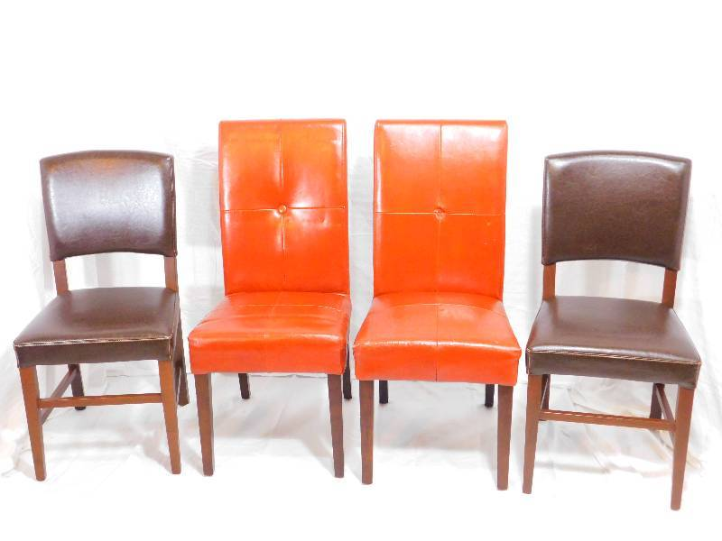 4 Pier 1 Imports Leather Dining Room Chairs Comic Books Misc K Bid