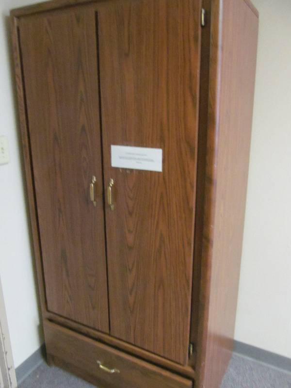 Wardrobe cabinet jax of benson sale 577 k bid for S f furniture willmar mn