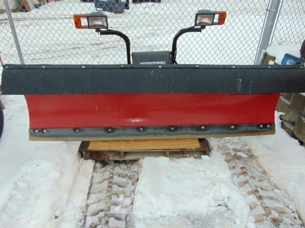8' hiniker snow plow with wires, controller and chevy mounting brackets |  grc early december consingments | k-bid