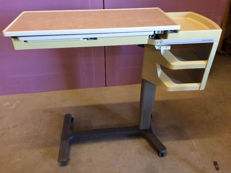 Retails Used 195 Hill Rom Patient Mate Overbed Table W