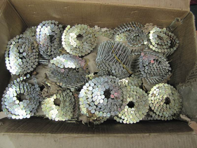 Approximately 28 coils Roofing Nails